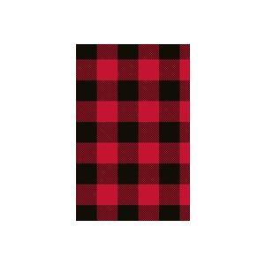 Red/Black Buffalo Plaid , Masculine Gift Wrap