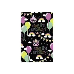 Trendy Birthday , Celebration Gift Wrap