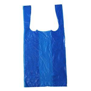 "Blue T-Shirt Bags, 9"" x 5"" x 17"""