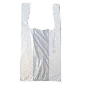 "White T-Shirt Bags, 7"" x 5"" x 15"""
