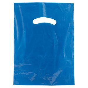 "Royal Blue, Super Gloss Merchandise Bags, 9"" x 12"""