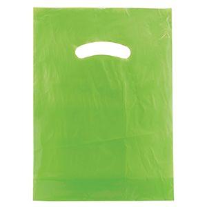 """Citrus Green, Super Gloss Merchandise Bags, 9"""" x 12"""""""