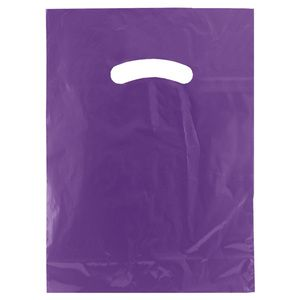 "Purple, Super Gloss Merchandise Bags, 9"" x 12"""