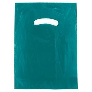 "Teal, Super Gloss Merchandise Bags, 9"" x 12"""