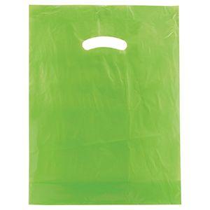 """Citrus Green, Super Gloss Merchandise Bags, 12"""" x 15"""""""