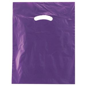 "Purple, Super Gloss Merchandise Bags, 12"" x 15"""