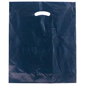 """Navy Blue, Super Gloss Merchandise Bags, 15"""" x 18"""" + 4"""""""