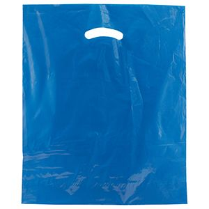 "Royal Blue, Super Gloss Merchandise Bags, 15"" x 18"" + 4"""