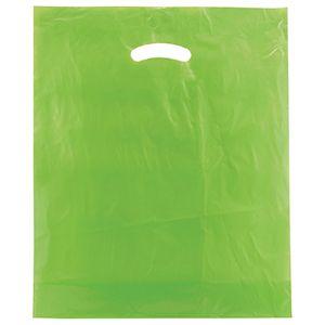 """Citrus Green, Super Gloss Merchandise Bags, 15"""" x 18"""" + 4"""""""
