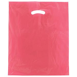 "Magenta, Super Gloss Merchandise Bags, 15"" x 18"" + 4"""