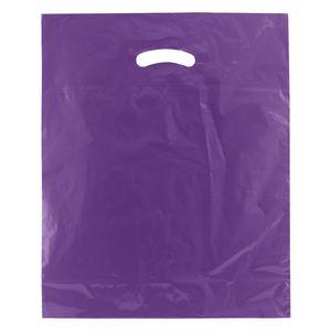 "Purple, Super Gloss Merchandise Bags, 15"" x 18"" + 4"""