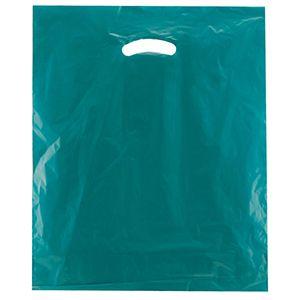 "Teal, Super Gloss Merchandise Bags, 15"" x 18"" + 4"""