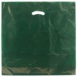"Dark Green, Gloss Christmas Plastic Merchandise Bags, 24"" x 24"" + 5"""
