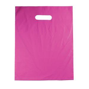 "Magenta, Medium Gloss Heavy Duty Merchandise Bags, 12"" X 15"""