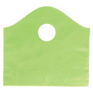 """Citrus Green, Super Wave Frosted Bags, 12"""" x 11"""" + 4"""""""