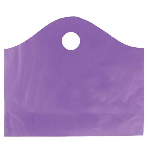 """Purple Grape, Super Wave Frosted Bags, 18"""" x 15"""" + 6"""""""