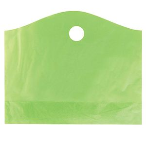 """Citrus Green, Super Wave Frosted Bags, 22"""" x 18"""" + 8"""""""