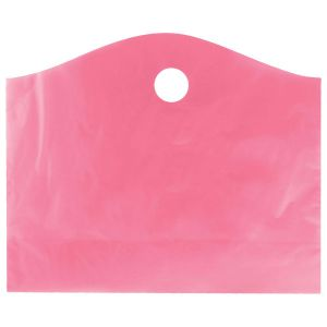 """Sizzling Pink, Super Wave Frosted Bags, 22"""" x 18"""" + 8"""""""