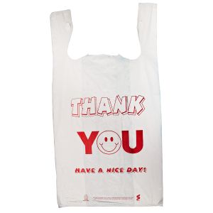 "Thank You, T-Shirt Bags, 11.5"" x 6"" x 21"""