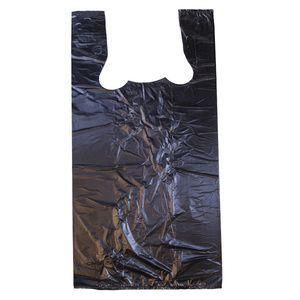 """Black T-Shirt Bags, 11.5"""" x 6.5"""" x 21"""""""