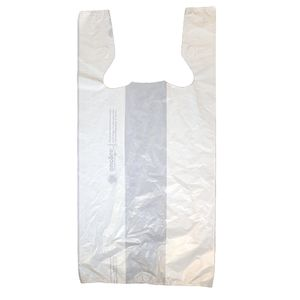 "White T-Shirt Bags, 11.5"" x 6.5"" x 21"""