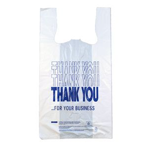 """Thank You, Delux T-Shirt Bags, 12"""" x 7"""" x 22"""""""