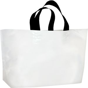 White, Ameritote Soft Loop Carryout Bags