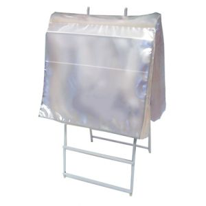 """Saddle Pack Portion Bag, with Flip, Clear, 6.5"""" x 7"""""""