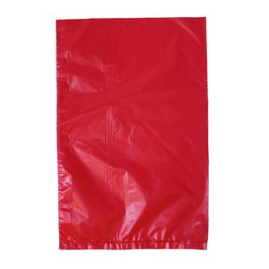 "Red, Plastic Merchandise Bags, 6.5"" x 9.5"""