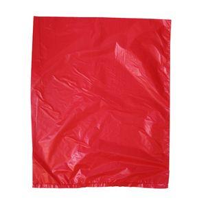 "Red, Plastic Merchandise Bags, 8.5"" x 11"""