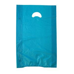 "Teal, Plastic Merchandise Bags, 12"" x 3"" x 18"""