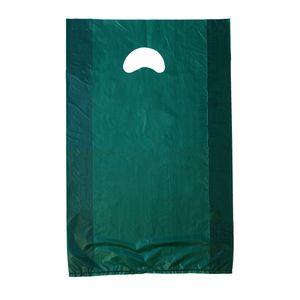 "Dark Green, Plastic Merchandise Bags, 12"" x 3"" x 18"""