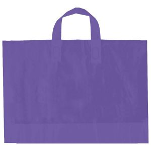 "Purple, AmeriTote HD Plastic Shopping Bags, 12"" x 10"" + 4"""