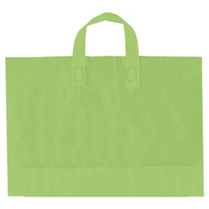 "Citrus Green, AmeriTote HD Plastic Shopping Bags, 12"" x 10"" + 4"""