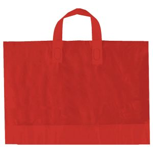 "Red, AmeriTote HD Plastic Shopping Bags, 12"" x 10"" + 4"""