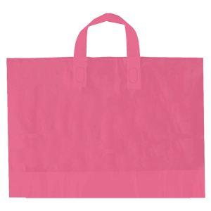 "Pink, AmeriTote HD Plastic Shopping Bags, 12"" x 10"" + 4"""