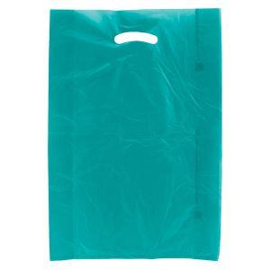 "Teal, Plastic Merchandise Bags, 13"" x 3"" x 21"""