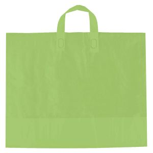"Citrus Green, AmeriTote HD Plastic Shopping Bags, 16"" x 15"" + 6"""
