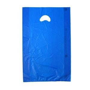 "Dark Blue, Plastic Merchandise Bags, 13"" x 3"" x 21"""