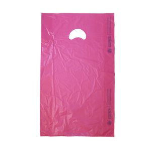 "Magenta, Plastic Merchandise Bags, 13"" x 3"" x 21"""