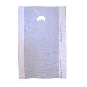 "White, Plastic Merchandise Bags, 16"" x 4"" x 24"""