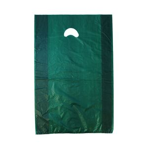 "Dark Green, Plastic Merchandise Bags, 16"" x 4"" x 24"""
