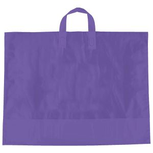 "Purple, AmeriTote HD Plastic Shopping Bags, 22"" x 18"" + 8"""