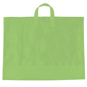 "Citrus Green, AmeriTote HD Plastic Shopping Bags, 22"" x 18"" + 8"""