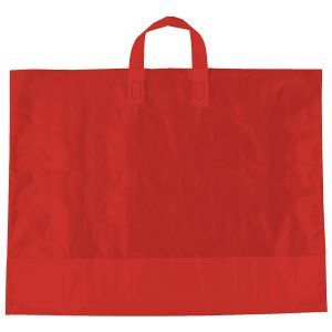 "Red, AmeriTote HD Plastic Shopping Bags, 22"" x 18"" + 8"""