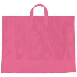 "Pink, AmeriTote HD Plastic Shopping Bags, 22"" x 18"" + 8"""