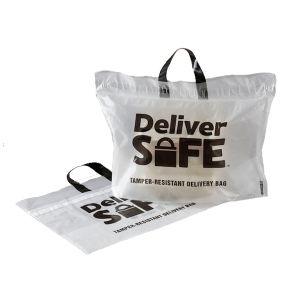 "Tamper Resistant Food Delivery Bag, Clear, 21""L x 15""W x 10""H, 1.75 Mil"