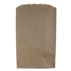"""Natural Kraft Recycled Paper Merchandise Bags, 4"""" x 6"""""""