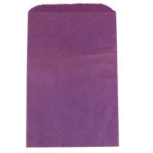 "Purple, Paper Merchandise Bags, 6-1/4"" x 9-1/4"""