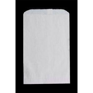 "White Paper Merchandise Bags, 6-1/4"" x 9-1/4"""